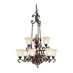 Kichler - Kichler 2091 Wilton 2-Tier  Chandelier - Product Features: