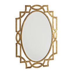 MIRROR, MIRROR ON THE WALL - This ravishing deco mirror is just the glam just about any room could use. The design is eye-catching and intricate without being overly fussy, and the warm gold tones are enough to bring a stylish edge to otherwise neutral and simple spaces. When hung above an entryway console, it really makes an entrance.