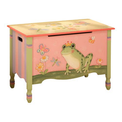 Teamson Design - Teamson Kids Magic Garden Hand Painted Kids Toy Chest/Box - Teamson Design - Toy Boxes and Chests - W7479A. This is a hand painted Magic Garden themed children's toy chest. Now you can organize your child's toys with a beautifully themed toy chest! Made in USA only for you!
