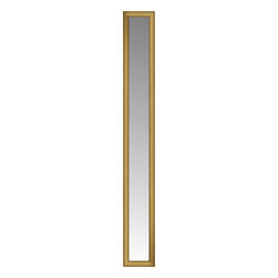 """Posters 2 Prints, LLC - 14"""" x 74"""" Arqadia Gold Traditional Custom Framed Mirror - 14"""" x 74"""" Custom Framed Mirror made by Posters 2 Prints. Standard glass with unrivaled selection of crafted mirror frames.  Protected with category II safety backing to keep glass fragments together should the mirror be accidentally broken.  Safe arrival guaranteed.  Made in the United States of America"""