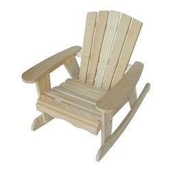 Kids' Convertible Rocking Chair, Red Cedar - Every child needs an outdoor rocker, especially when it's made from sustainably grown wood.