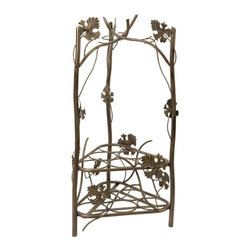 IMAX CORPORATION - Terry Wine Rack - The Terry wine rack holds up to six wine bottles and has vine and oak leaf decoration. Find home furnishings, decor, and accessories from Posh Urban Furnishings. Beautiful, stylish furniture and decor that will brighten your home instantly. Shop modern, traditional, vintage, and world designs.