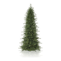 "Balsam Hill - 6.5' Balsam Hill® Red Spruce Slim Artificial Christmas Tree - From the reddish-brown branches to the light-green leaves, our Red Spruce Slim artificial Christmas tree is perfect for entryways, hallways, or anywhere you'd like to display a full-height tree with a smaller diameter. The 6.5 foot classic unlit version of the Red Spruce Slim comes with a scratch-proof tree stand, soft cotton gloves for shaping and handling the tree, and an off-season storage bag. As the best artificial Christmas tree manufacturer that is the #1 choice for set designers for TV shows such as ""Ellen"" and ""The Today Show"", in addition to being a recipient of the Good Housekeeping Seal of Approval, our trees are backed by either a 10-year or 5-year foliage warranty (depends on the size of the tree) and a 3-year light warranty. Free shipping when you buy today!"