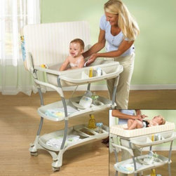 Primo - Primo Euro Spa Baby Bath and Changing Table - This innovative bath and changing center offers the convenience of a baby bath and portable changing table center all in one.