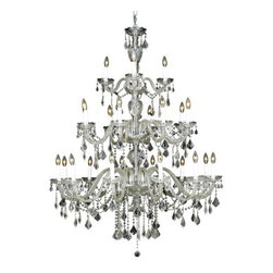 Elegant Lighting - Elegant Lighting 7831G45C Alexandria 24-Light, Three-Tier Crystal Chandelier, Fi - Elegant Lighting 7831G45C Alexandria 24-Light, Three-Tier Crystal Chandelier, Finished in Chrome with Clear CrystalsElegant Lighting 7831G45C Features: