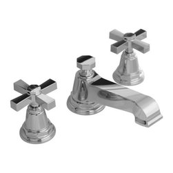 KOHLER - KOHLER K-13132-3A-CP Pinstripe Pure Widespread Lavatory Faucet w/ Cross Handles - KOHLER K-13132-3A-CP Pinstripe Pure Widespread Lavatory Faucet with Cross Handles in Polished Chrome