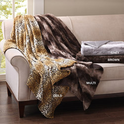 Madison Park - Madison Park Long Faux Fur Throw - Lavish in the luxury with the Madison park Long Fur Throw for ultra softness and warmth. Large enough to completely envelop you at 50 inches by 60 inches long, our Cheetah long fur Throw is made of soft polyester long fur with micro fur backing. This throw is both functional and decorative. 100% polyster 260gsm long fur, 180gsm lux micro fur