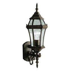 "Kichler - Kichler 9790TZ Townhouse Collection 1 Light 22"" Outdoor Wall Light - Kichler 9790 Townhouse Outdoor Wall Light"