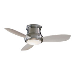 "Minka Aire - Minka Aire F519-BN Concept II Brushed Nickel Flush Mount 52"" Modern Ceiling Fan - Features:"