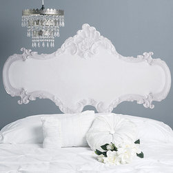 Baroque Headboard - I love the idea of a mural as a headboard! This vinyl sticker in ornate baroque style is an economical alternative to an expensive French headboard. It would be ideal for a girl's bedroom, spare room or a space you aren't quite committed to. Plus, you can remove it and reposition it, so you can try different looks and take it with you when you move.