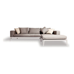 Balmoral Chaise Sectional (L & R) - Harbour Outdoor introduces a custom self-assembled sofa system never seen before in the outdoor world.