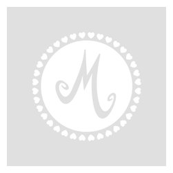 Cherry Walls - Monogram Nursery Wall Decal Letter in White - We all love monogrammed towels and bags. How about a monogram for your walls? With this special decal, you can quickly adorn your child's room with one or more of his or her initials. After all, wee ones love bold graphics and colors … and we love them!