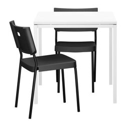 Lisa Norinder/Ola Hermansson - MELLTORP/HERMAN Table and 2 chairs - Table and 2 chairs, white, black