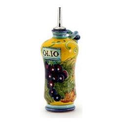Artistica - Hand Made in Italy - Uva Fondo Giallo: Shaped Olive Oil Bottle Cruet - Uva Fondo Giallo: