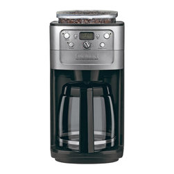Cuisinart - Cuisinart Grind and Brew 12-Cup Automatic Coffeemaker - 8 oz. bean hopper with a sealed lid to prevent moisture