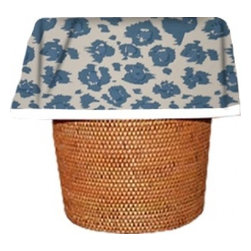 "Designerliners inc. - Blue Leopard Waste Basket Bags   Decorative - Reusable - Biodegradable - 12 Pack - Designerliners decorative waste basket bags enhance any room in your home that has a waste basket. Designerliners come packed ""inside out"" such that when placed inside a waste basket, the design shows on the inside of the container and then flows over the outer lip to form a beautiful outer border. Designerliners are made in the USA from strong 1 mil thick biodegradable plastic. Blue Leopard Designerliners measure 21 x 24 inches. Available in 12-packs and economy 100-packs."
