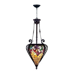 Dale Tiffany - Dale Tiffany Jacqueline Foyer Fixture - TH100578 - Shade Material: Hand Rolled Art Glass
