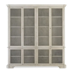 Brian Double Cabinet - I want this cabinet in my next dream house. The doors are equipped with metal mesh screens. Plus, it is very pretty with ample storage.