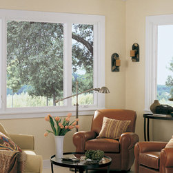 Casement & Awning Fiberglass Windows - Family Room showing Casement and Awning Fiberglass Replacement Windows - Photo by Infinity from Marvin