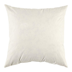 "Ballard Designs - Ballard Basic Pillow Insert 22 inch - Fits 22"" Square Basic Decorative Pillow only. Imported. We've added versatile new sizes to our best-selling Essential Pillows, so you can mix and match shapes, colors and textures. This luxurious feather-down insert is specially designed to fit our 22"" Square Pillow, a great accent for big sectionals.22"" Square Insert features: . ."