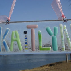 Personalized Fused Glass Name Plate by Amanda