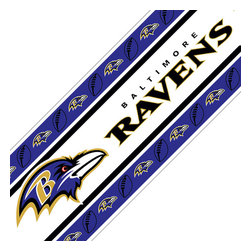 Sports Coverage Inc - NFL Baltimore Ravens Self Stick Wall Border - Features: