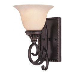 Joshua Marshal - One Light Antique Copper Wall Light - One Light Antique Copper Wall Light