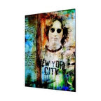 "READY2HANGART.COM - Ready2hangart Alexis Bueno Iconic 'John Lennon' Acrylic Wall Art - Artist Alexis Bueno, takes you on a journey with this unique retrospective of the stars that affected Pop Culture through the past centuries with his series Iconic Art . This abstract rendition in acrylic art is offered as part of a limited ""Home Decor"" line, being the perfect addition to any contemporary space."