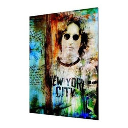 "Ready2HangArt - Ready2hangart Alexis Bueno Iconic 'John Lennon' Acrylic Wall Art - Artist Alexis Bueno, takes you on a journey with this unique retrospective of the stars that affected Pop Culture through the past centuries with his series Iconic Art . This abstract rendition in acrylic art is offered as part of a limited ""Home Decor"" line, being the perfect addition to any contemporary space."