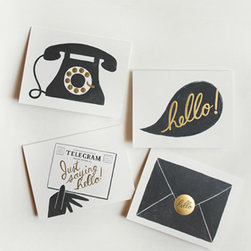 "Assorted 'Hello' Cards - No home office would be complete without a few personalized note cards to send out. I love these cards from Paper Rifle Co. to send out ""just because."""