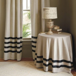 Deux Ruban Linen Panel - The simple stripes on these crisp classic curtain panels give them just a hint of a preppy Nantucket vibe.