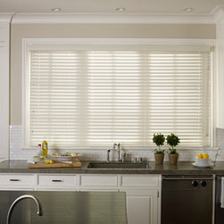 """Faux Wood Blinds - 2"""" Faux Wood Blind, Oyster White"""