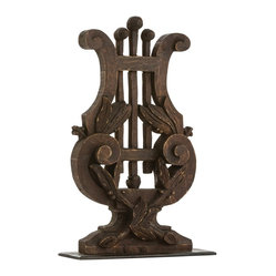 Arteriors - Evelyn Sculpture - This magnificent, carved wood harp will harmonize well with other accessories and furnishings in your home, so you can move it around to new locations as your decor changes throughout the years.