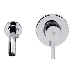 VIGO Industries - VIGO Olus Chrome Finish Single Lever Wall Mount Faucet - This VIGO Olus single lever wall mounted faucet in Chrome brings a modern and unusual design to your home.