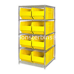 """Wire Shelving - Wire Shelving Units are available in either 54"""", 63"""", 74"""" or 86"""" high.  Each starter unit comes with 4 shelves and 4 posts.  You can add as many shelves as you'd like.  We have optional mobile kits which are easily attached.  Ask about our Low Price Guarantee"""