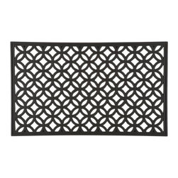 Circles Rubber Doormat - A graphic pattern of overlapping circles in weather-resistant vulcanized rubber traps dirt, water and debris in the entryway before it gets inside.