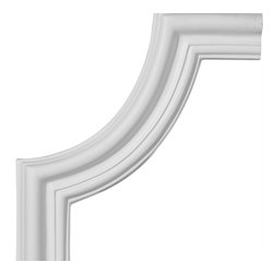 """Ekena Millwork - 10 1/2""""W x 10 1/2""""H Seville Panel Moulding Corner - 10 1/2""""W x 10 1/2""""H Seville Panel Moulding Corner. Our beautiful panel moulding and corners add a decorative, historic, feel to walls, ceilings, and furniture pieces. They are made from a high density urethane which gives each piece the unique details that mimic that of traditional plaster and wood designs, but at a fraction of the weight. This means a simple and easy installation for you. The best part is you can make your own shapes and sizes by simply cutting the moulding piece down to size, and then butting them up to the decorative corners. These are also commonly used for an inexpensive wainscot look."""