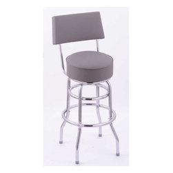 """Holland Bar Stool - Classic C7C4 Swivel Bar Stool - This model C7C4 stool will give you all the classic style you could ever want at a price you can afford. Holland Bar Stool presents the Classic Series, a retro infused style with the quality you've come to expect from HBS. This C7C4 stool has a 4 inch cushion with a double ring base and is triple chrome plated. If you are looking for that classic, retro style stool, we have what you need. Build it the way you want it, with the help of Holland Bar Stool. Features: -Classic collection. -Metal finish: Chrome. -Shiny, lustrous and tripled plated chrome finish. -Made with commercial quality and plating grade steel. -Manufacturer provides lifetime warranty on swivel and one year frame warranty. Dimensions: -40"""" - 45"""" H x 18"""" W x 18"""" D, 22 lbs."""