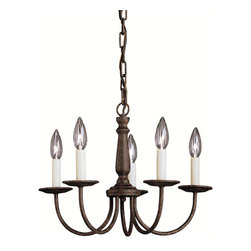 Kichler - Kichler Salem Five Light Tannery Bronze Up Chandelier - 1770TZ - This Five Light Up Chandelier is part of the Salem Collection and has a Tannery Bronze Finish.