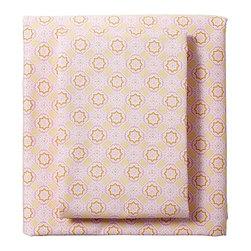 Serena & Lily - Ruby/Sunshine Mosaic Sheet Set - These fun pink sheets would be so sweet under a crisp white duvet.