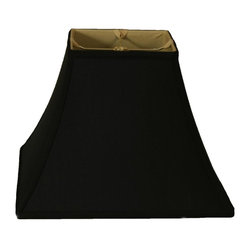 Silk Type Shantung Square Bell Lampshade Black This
