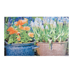 Esschert Design - Printed Doormat - Flowers - Give your guests a bright welcome with this vivid flower scene on your doorstep. This ecofriendly rubber doormat is an inviting way to put your best foot forward, in front of your home.