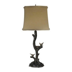 Sterling Industries - Sterling Industries 93-19309 1 Light Chicks on a Branch Table Lamp - Features: