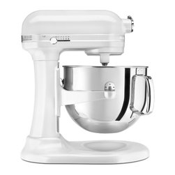 KitchenAid - KitchenAid RKSM7581FP Frosted Pearl 7-quart Bowl-lift Stand Mixer (Refurbished) - This KitchenAid Frosted Pearl 7-quart Stand Mixer includes a flat beater,dough hook and wire whip. The professional bowl-lift design raises the bowl into mixing position. The 10-speed slide control ranges from a very fast whip to a very slow stir.