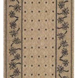 "Safavieh - Safavieh Courtyard CY5148H 6'7"" x 9'6"" Coffee, Black Rug - Safavieh's Courtyard collection was created for today's indoor/outdoor lifestyle. These beautiful but practical rugs take outdoor decorating to the next level with new designs in fashion-forward colors and patterns from classic to contemporary. Made in Turkey with enhanced polypropylene for extra durability, Courtyard rugs are pre-coordinated to work together in related spaces inside or outside the home."