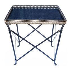 Granite Top Rectangular Side Table - Dimensions 21.0ʺW × 14.0ʺD × 25.0ʺH