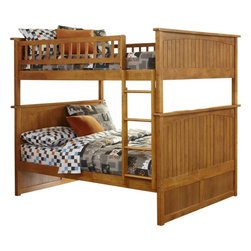 Atlantic Furniture - Nantucket Bunk Bed Full Over Full / Caramel Latte - Features: