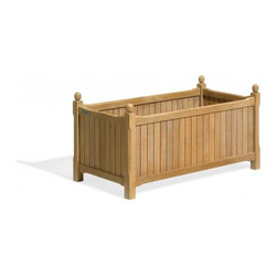 Oxford Garden - English 19x38 in. Planter - The 38 Rectangular English Planter gives a finishing touch to any outdoor setting. The slatted and removable bottom allows for planting directly into the planter or for placing a pre-potted plant.