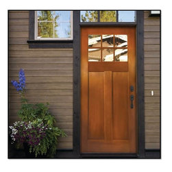 Fir Grain  Fiberglass Door - PLASTPRO'S FIR GRAIN SERIES - The craftsmanship and classic styling of Plastpro Fir Grain series features the fine vertical graining characteristic of the Douglas fir which emphasizes the architecturally correct proportions of Plastpro fiberglass entry doors.