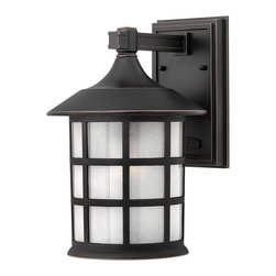 Hinkley Lighting - Hinkley Lighting 1804OP Freeport Transitional Outdoor Wall Sconce - Freeport features a classic New England design in cast aluminum construction complemented by clear seedy glass for a timeless traditional style that will complement a variety of exteriors.